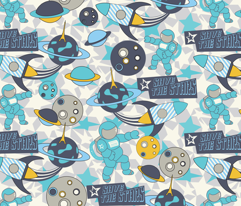Save The Stars ! fabric by demigoutte on Spoonflower - custom fabric