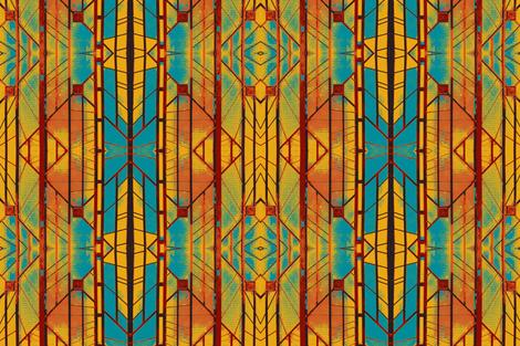 Deco Door, Paris-sunrise on daylight savings time fabric by susaninparis on Spoonflower - custom fabric