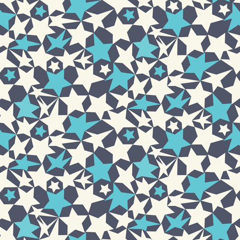 Stars Ditsy fabric by demigoutte on Spoonflower - custom fabric