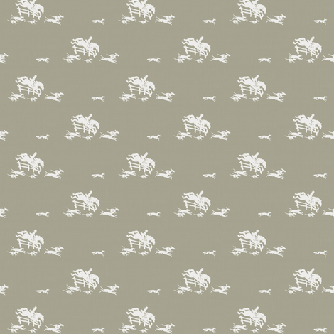 Full Cry Greige fabric by ragan on Spoonflower - custom fabric
