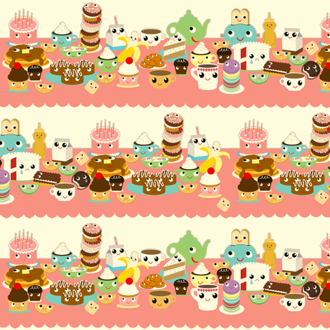 strange tea party  fabric by heidikenney on Spoonflower - custom fabric