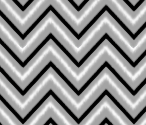 Black & Grey Chevron fabric by fable_design on Spoonflower - custom fabric