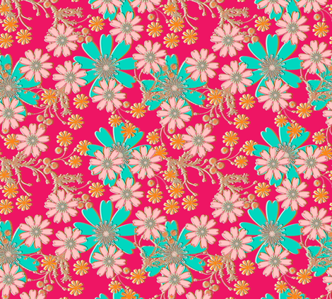 Colorburst Floral fabric by joanmclemore on Spoonflower - custom fabric