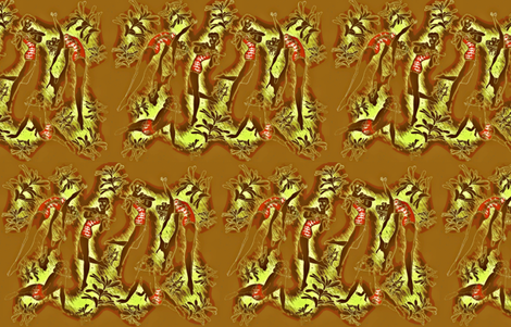Hula Flowers fabric by waiomaotiki on Spoonflower - custom fabric