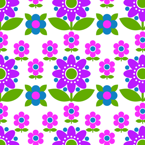daisy_dots fabric by aliceapple on Spoonflower - custom fabric