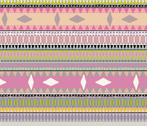 pastel kiss stripe fabric by scrummy on Spoonflower - custom fabric