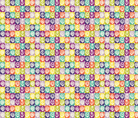 Summer_geometric_flowers fabric by blimblimb on Spoonflower - custom fabric