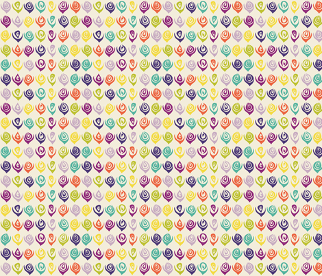 Summer_geometric_flowers_composee fabric by blimblimb on Spoonflower - custom fabric