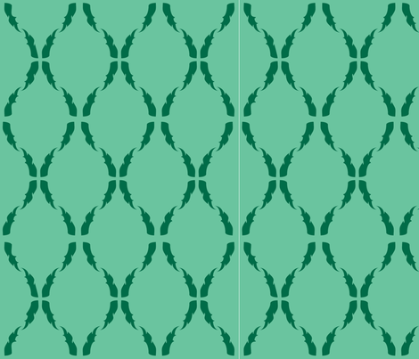 Modern Baroque Green fabric by gabrielle&grete on Spoonflower - custom fabric