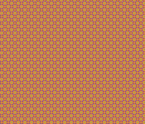 Tiny enchanting geometric flowers fabric by bethanialimadesigns on Spoonflower - custom fabric