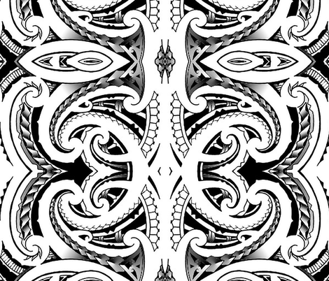 Tribal Koru fabric by flyingfish on Spoonflower - custom fabric