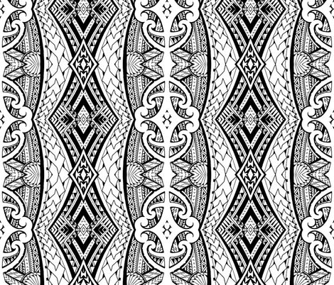 Maori fabric by flyingfish on Spoonflower - custom fabric