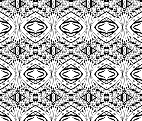 Tiki Tribal fabric by flyingfish on Spoonflower - custom fabric