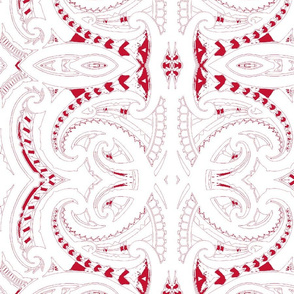 Tribal Koru red and white