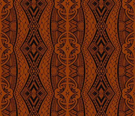 Maori Tapa fabric by flyingfish on Spoonflower - custom fabric