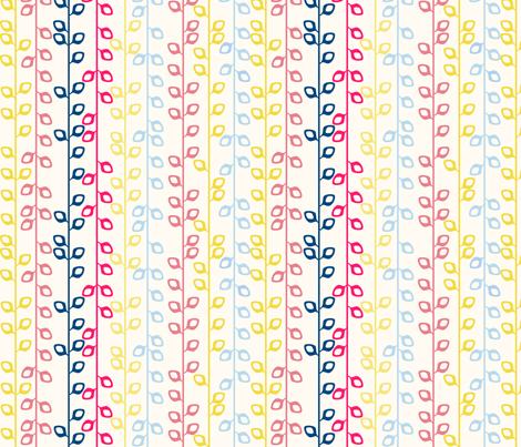 Striped leaves fabric by blimblimb on Spoonflower - custom fabric
