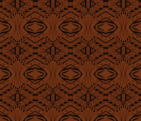 Tiki Tribal Tapa fabric by flyingfish on Spoonflower - custom fabric
