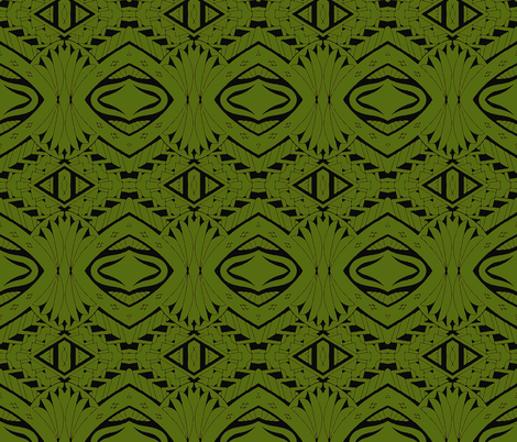Tiki Tribal Jungle fabric by flyingfish on Spoonflower - custom fabric