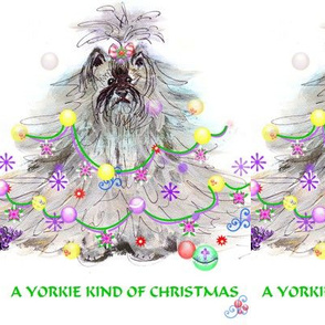 YORKIE KIND OF CHRISTMAS  SWATCH