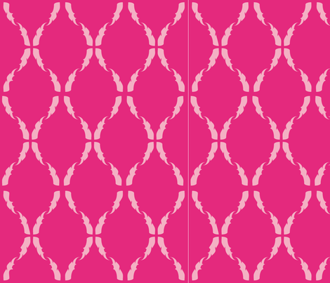 Modern Baroque Fuschia fabric by gabrielle&grete on Spoonflower - custom fabric