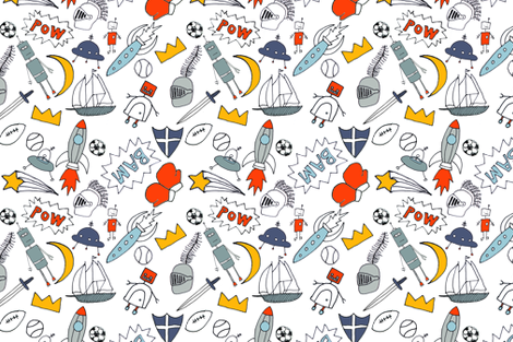 be_my_hero_3 fabric by Simoen on Spoonflower - custom fabric