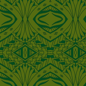 Tiki Tribal Jungle green
