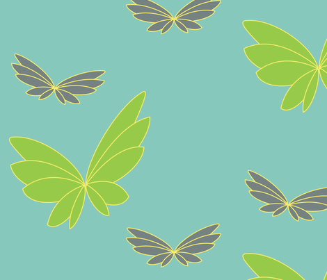 Flying Grete fabric by gabrielle&amp;grete on Spoonflower - custom fabric