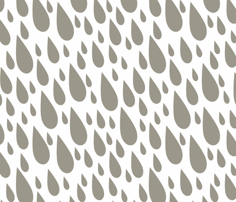 Cloud 9 Raindrops fabric by designedtoat on Spoonflower - custom fabric