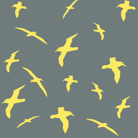 Albatross Flight Yellow fabric by smuk on Spoonflower - custom fabric