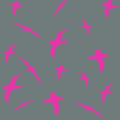 Albatross Flight Pink fabric by smuk on Spoonflower - custom fabric