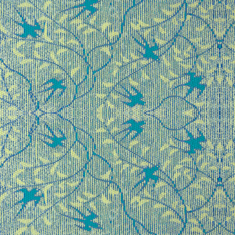 Swallows's Return - teal & light green fabric by materialsgirl on Spoonflower - custom fabric