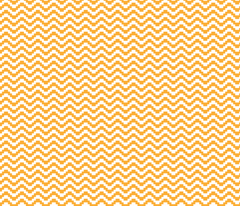 Brick Zigzag - Amber fabric by little_fish on Spoonflower - custom fabric