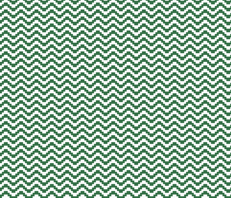 Brick Zigzag -  Forest Green fabric by little_fish on Spoonflower - custom fabric