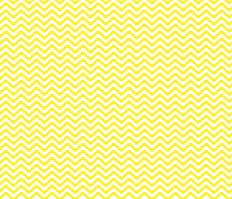 Brick Zigzag - Sunshine fabric by little_fish on Spoonflower - custom fabric