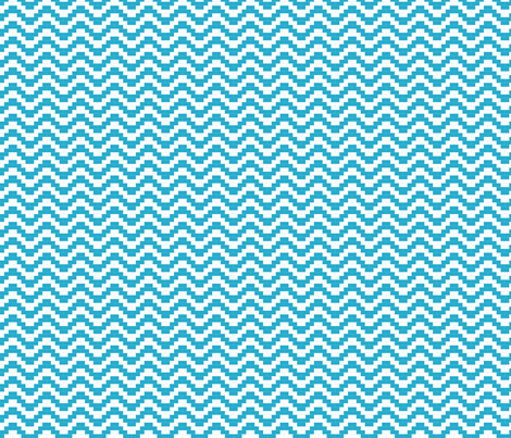 Brick Zigzag - Turquoise fabric by little_fish on Spoonflower - custom fabric