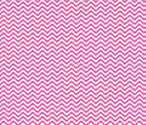 Brick Zigzag - Hot pink fabric by little_fish on Spoonflower - custom fabric