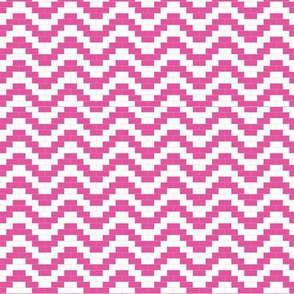 Brick Zigzag - Hot pink