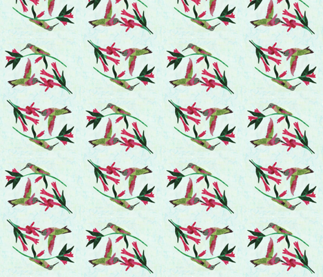 Hummingbirds fabric by pmegio on Spoonflower - custom fabric