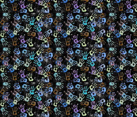 Galaxy Hands fabric by technorican on Spoonflower - custom fabric
