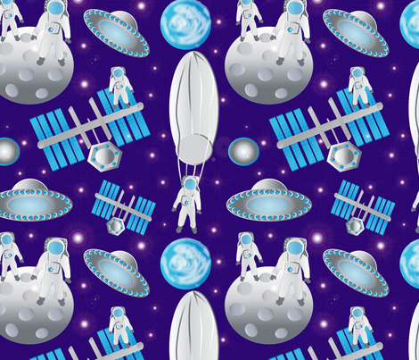 Spacemen featuring Fearless Felix fabric by kociara on Spoonflower - custom fabric