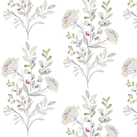 Nouveau Neon White fabric by hackneyandco on Spoonflower - custom fabric