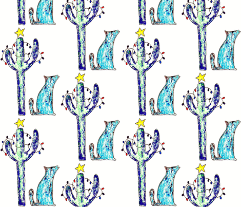 Coyote Holiday fabric by anniedeb on Spoonflower - custom fabric