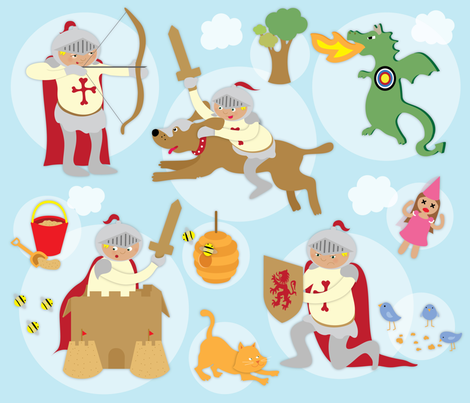 Day and Knight fabric by lisa_brown on Spoonflower - custom fabric