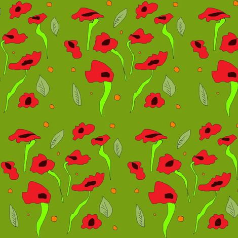 poppies fabric by colorfulartgirl on Spoonflower - custom fabric