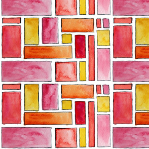Watercolor Rectangles