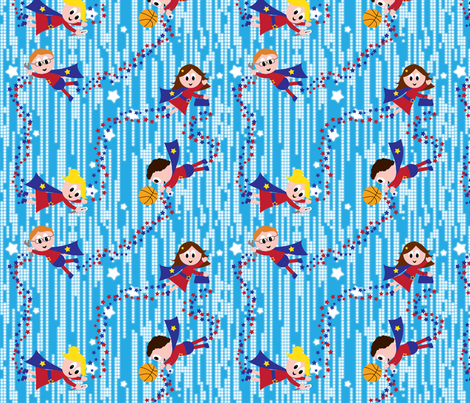 All Mums and Dads are Heroes fabric by shelleymade on Spoonflower - custom fabric