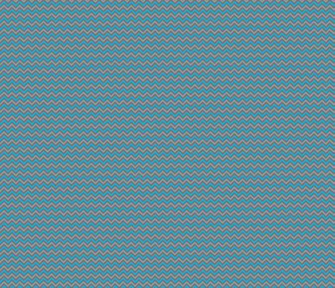 Robotika Chevron (Small Blue)  fabric by robyriker on Spoonflower - custom fabric