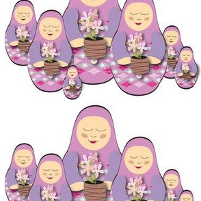 Babushka Doll with Flowers