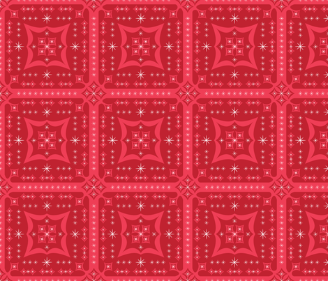 Festive Squares (Red) fabric by robyriker on Spoonflower - custom fabric