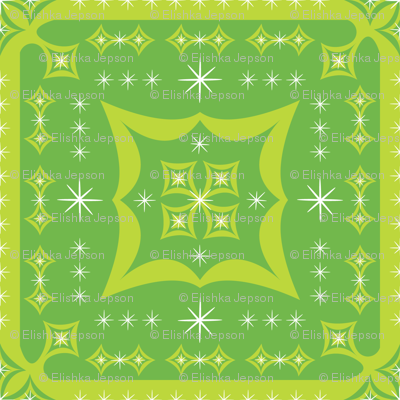 Festive Squares (Green)